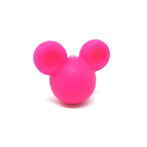 Perle Petit Mickey 3D Silicone Fuchsia