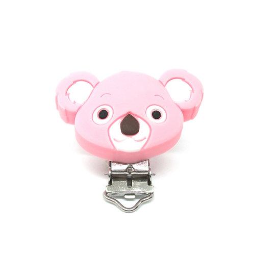 Clip Koala Silicone Rose Tendre