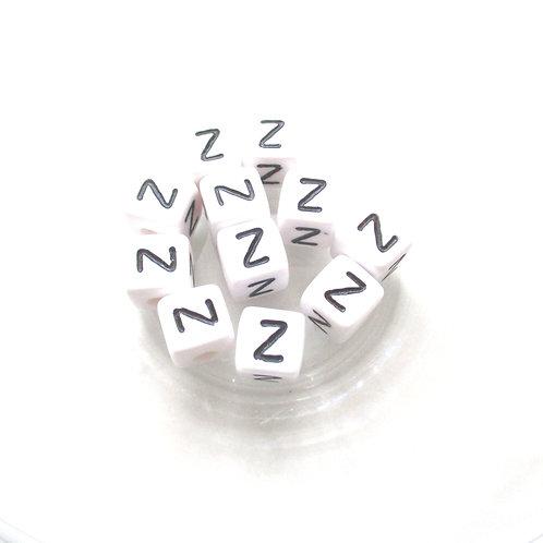 10 Perles Alphabet Acrylique - Lettre Z