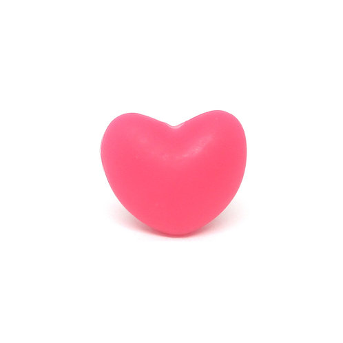 Perle Coeur Silicone Rose Foncé