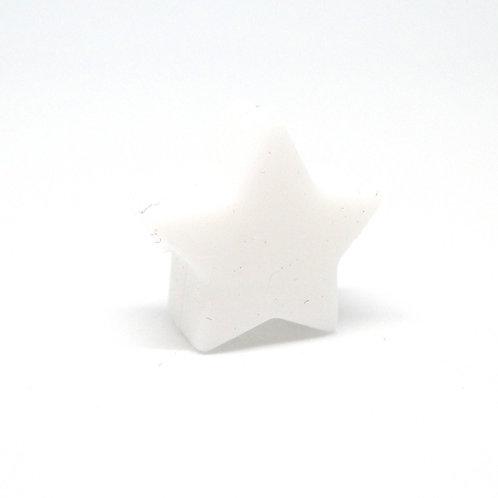 Perle Petite Etoile Silicone Blanc