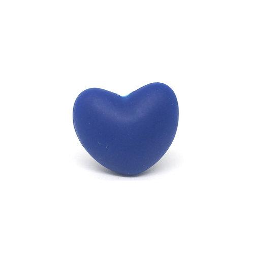 Perle Coeur Silicone Bleu Marine
