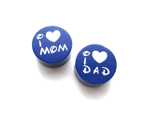 Perle en Bois I Love Mom-Dad Glitter Marine