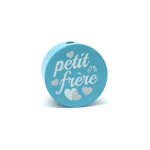Perle en Bois Petit Frère Turquoise