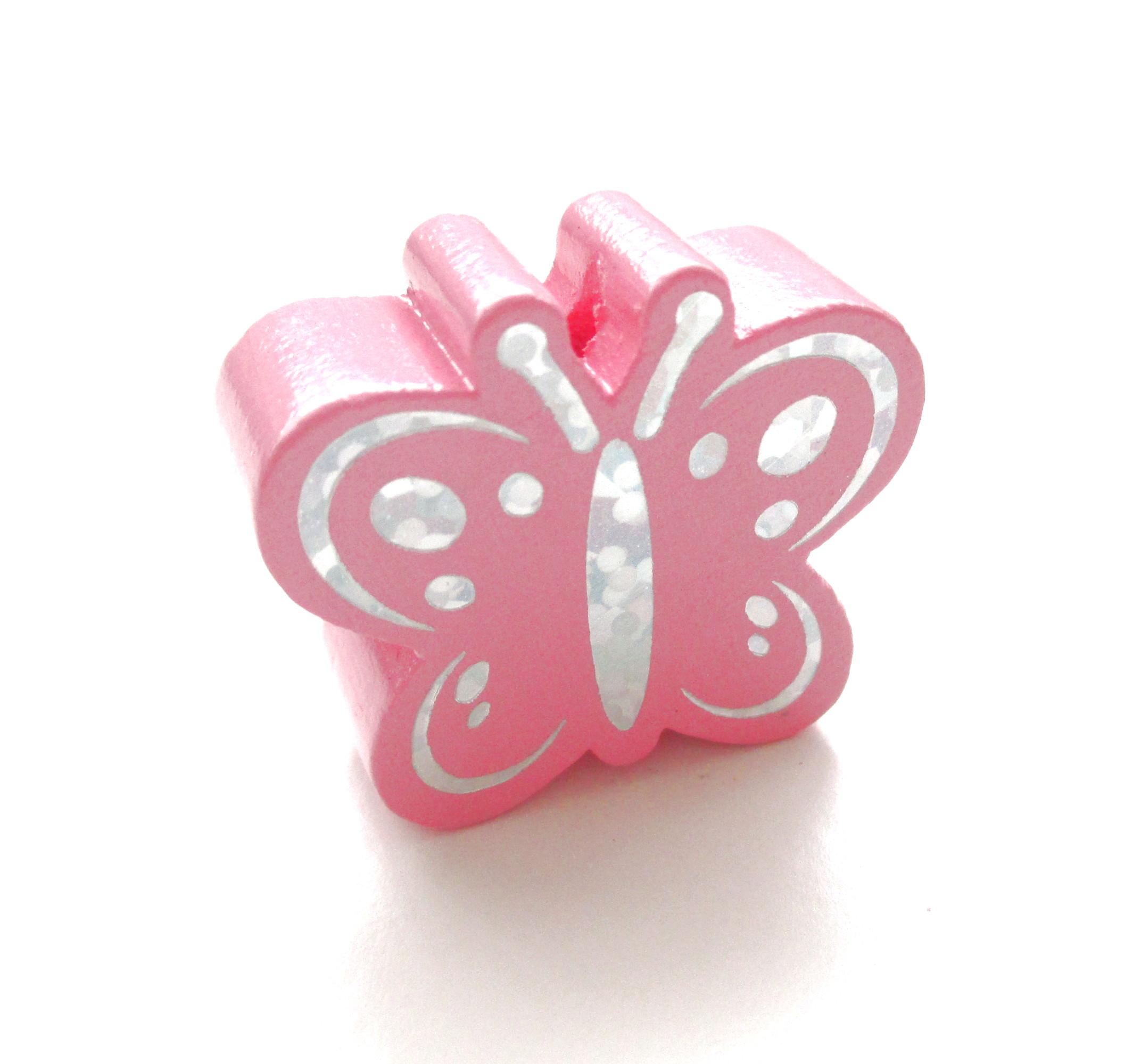 Perle en bois papillon