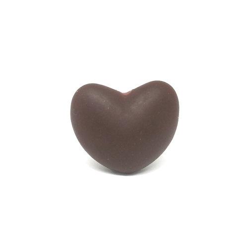 Perle Coeur Silicone Chocolat