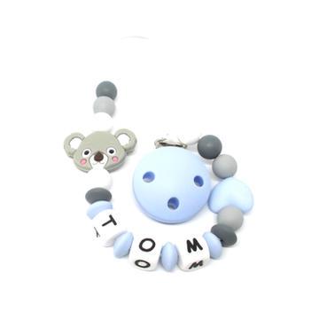 Attache tetine silicone koala Tom