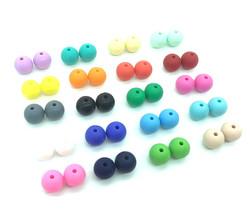 Perles silicone pour bébé 15mm