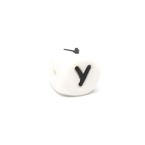 Perle Alphabet Silicone - Lettre Y