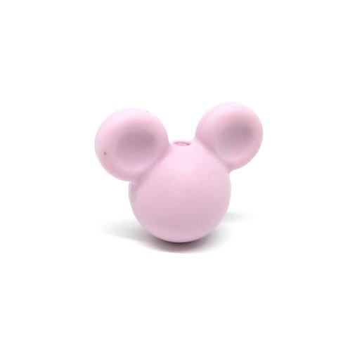 Perle Petit Mickey 3D Silicone Mauve