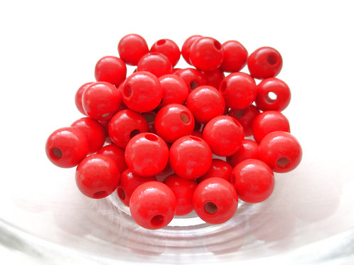 perle bois bebe rouge