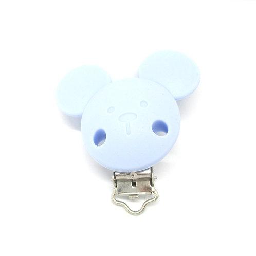 Clip Mickey Silicone Bleu Tendre