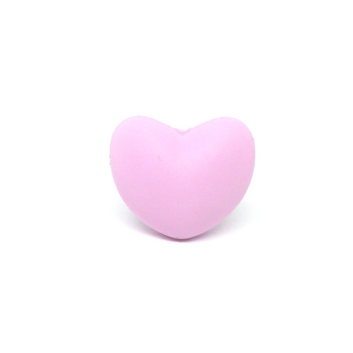 Perle Coeur Silicone Mauve