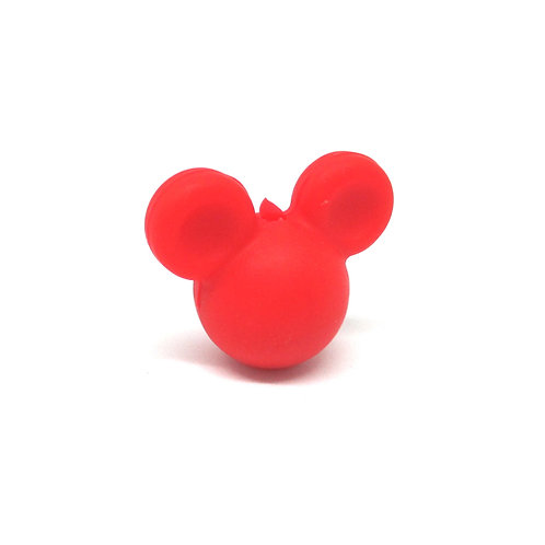 Perle Petit Mickey 3D Silicone Rouge