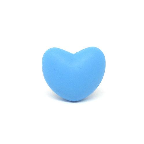 Perle Coeur Silicone Bleu Royal