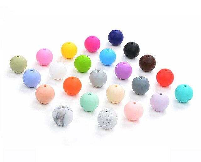 Perles silicone pour bébé 12mm
