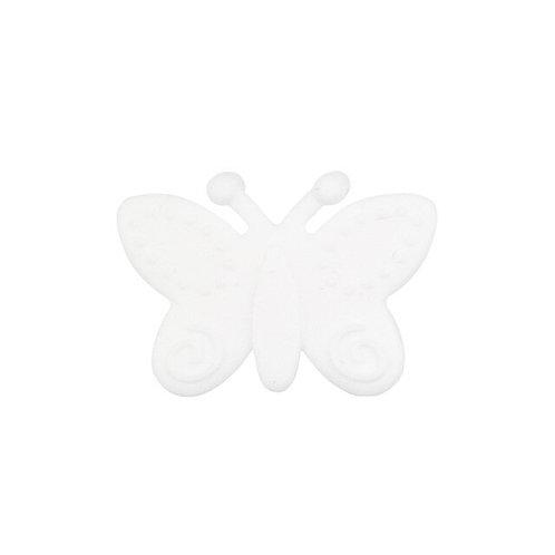 Perle Papillon Silicone Blanc