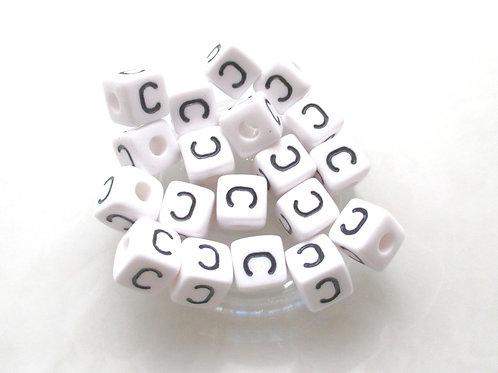 Perle Alphabet Acrylique - Lettre C