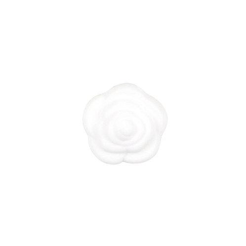 Perle Fleur Silicone Blanc