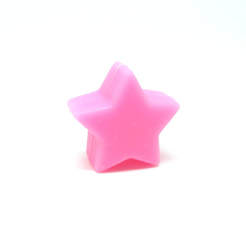 Perle Petite Etoile Silicone Rose