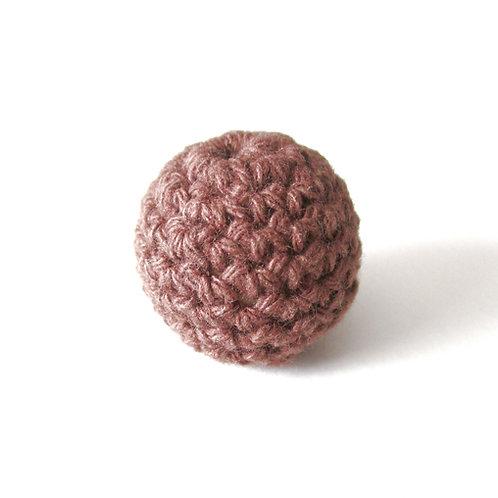 Perle en Bois et Crochet 20mm Chocolat