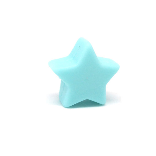 Perle Petite Etoile Silicone Aqua