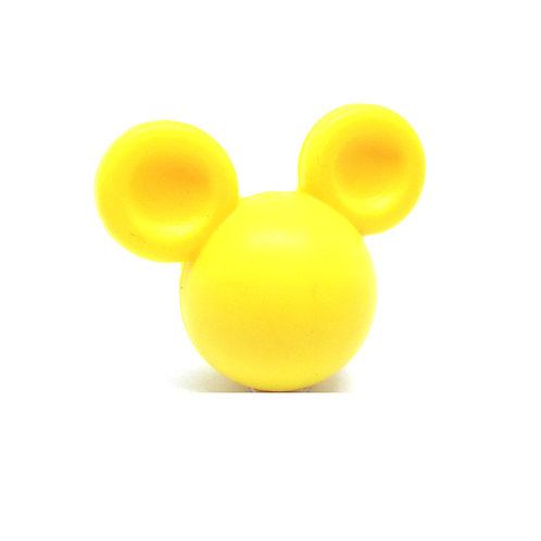 Perle Grand Mickey 3D Silicone Jaune