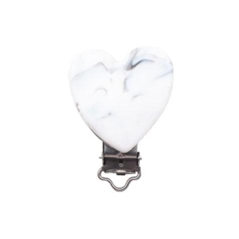 clip silicone coeur marbre