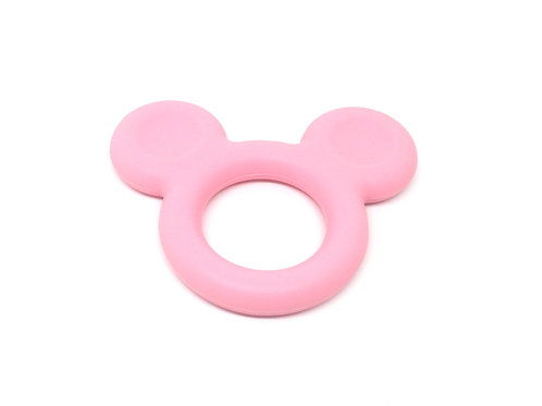 Mickey Silicone Spécial Dentition Rose