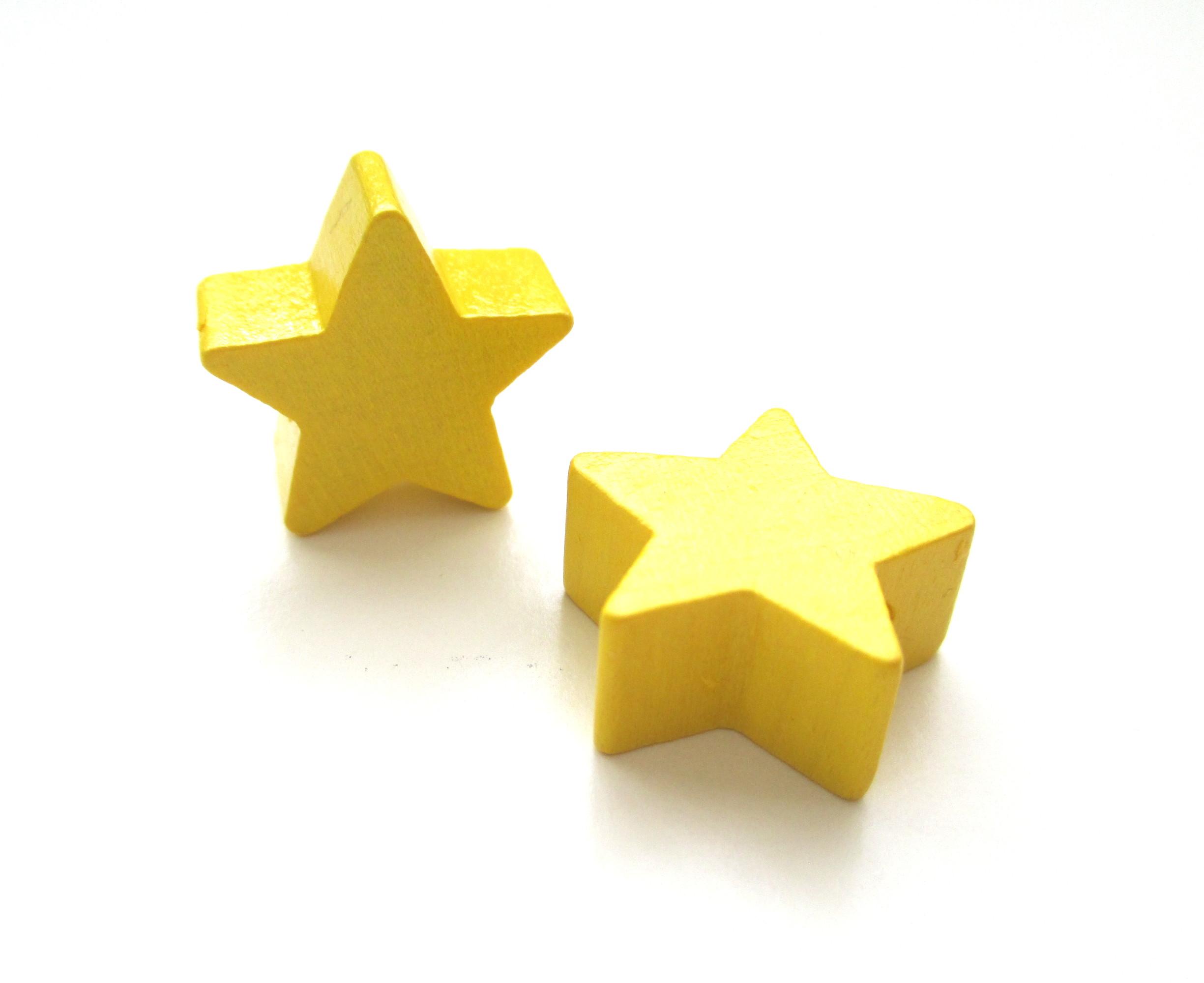 Perle en bois étoile