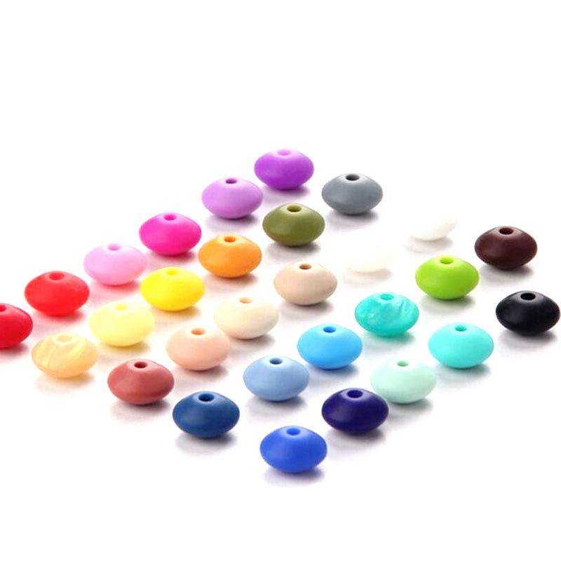 Perles plates silicone pour bébé