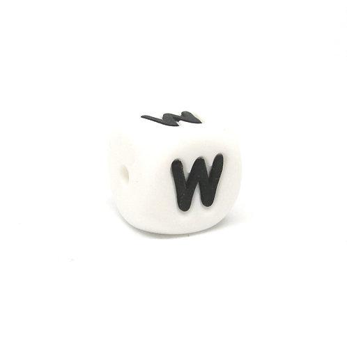Perle Alphabet Silicone - Lettre W