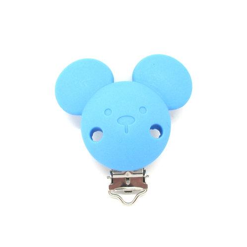 Clip Mickey Silicone Bleu Royal