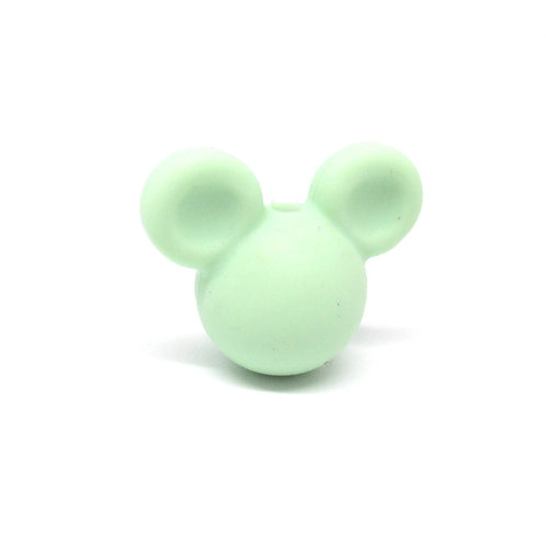 Perle Petit Mickey 3D Silicone Mint