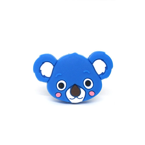 Perle Tête de Koala Silicone Bleu Royal