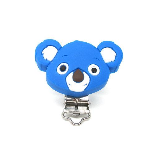 Clip Koala Silicone Bleu Royal
