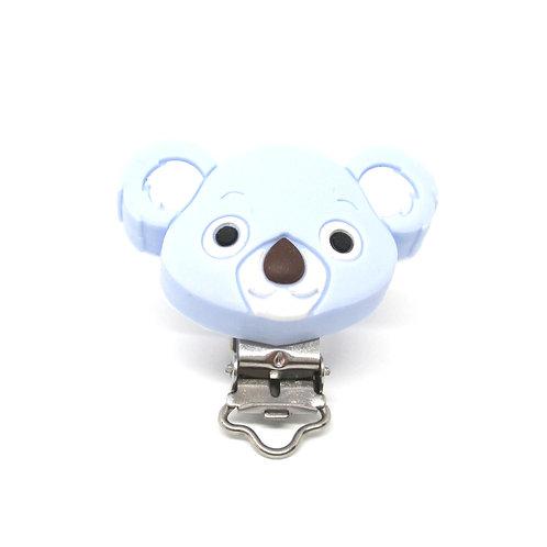Clip Koala Silicone Bleu Tendre