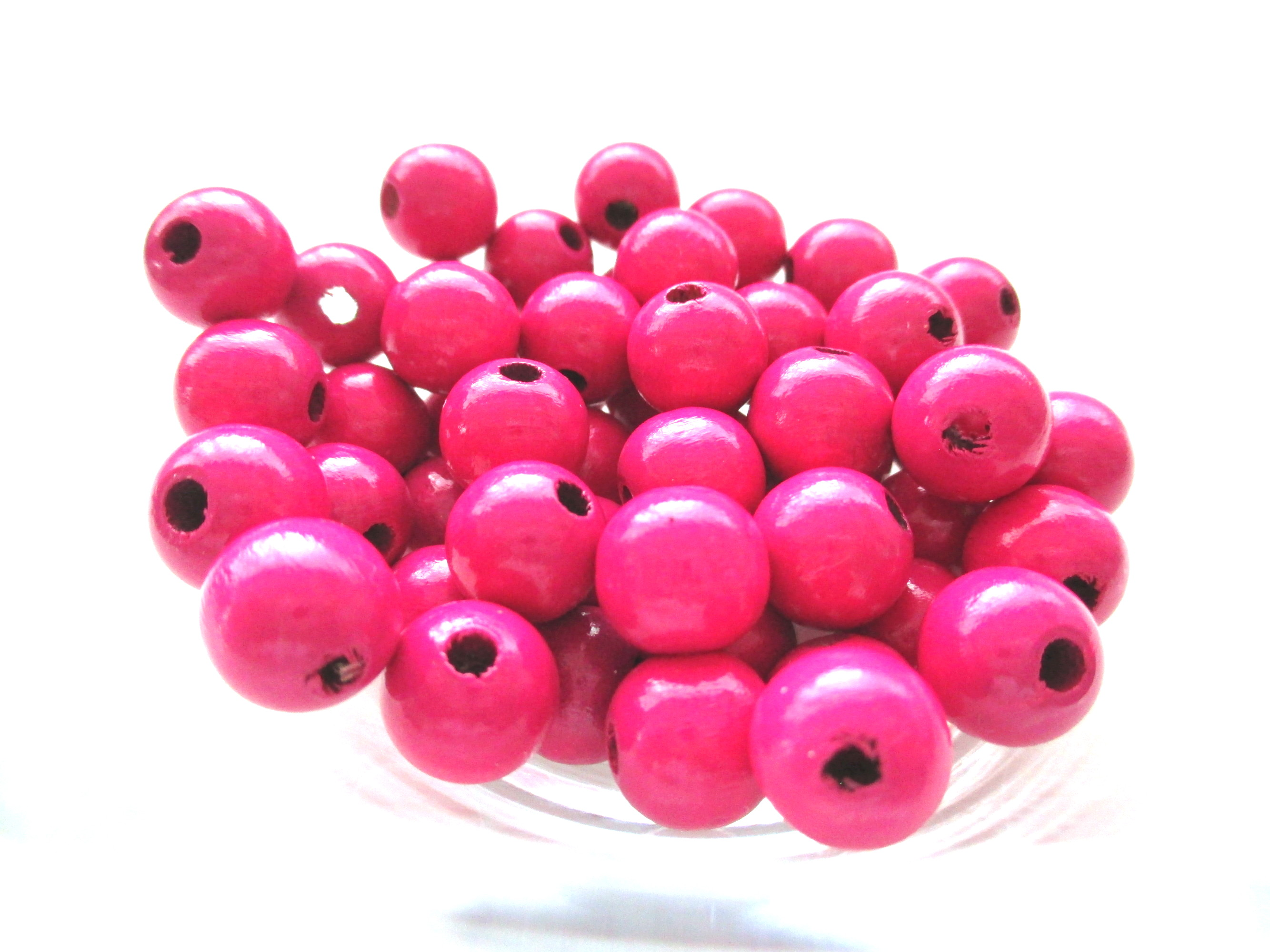 Perles pour attache tetine fuchsia joale