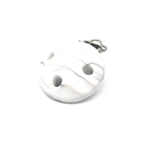 Clip Silicone Blanc Marbre
