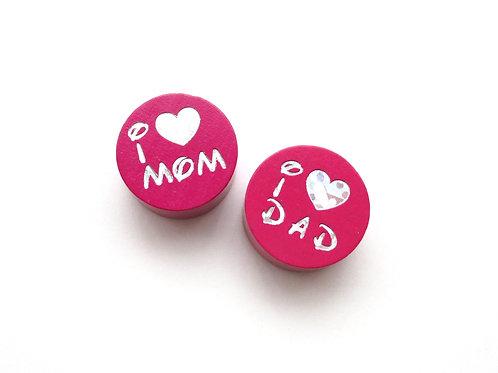 perle i love mom fuchsia
