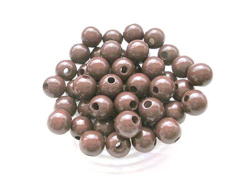 25 Perles en Bois 10mm Chocolat
