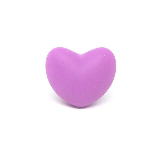 Perle Coeur Silicone Violet