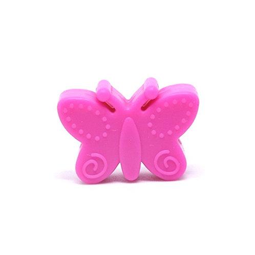 Perle Papillon Silicone Fuchsia