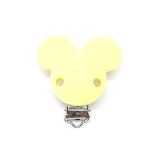 Clip Mickey Silicone Jaune Tendre