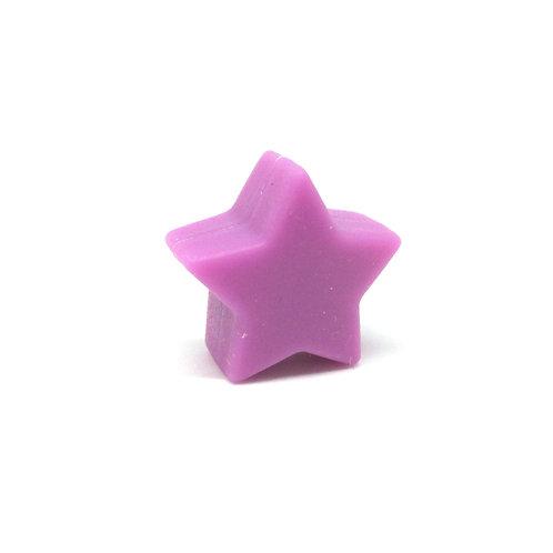 Perle Petite Etoile Silicone Violet