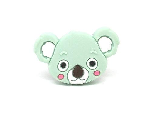 Perle Tête de Koala Silicone Mint