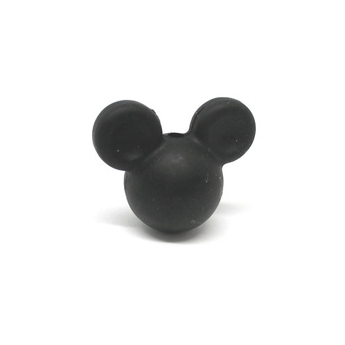 Perle Petit Mickey 3D Silicone Noir