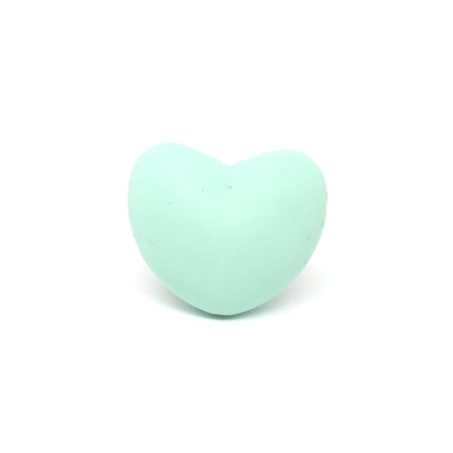 Perle Coeur Silicone Mint