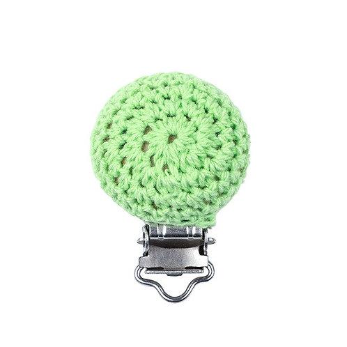 Clip Crochet et Bois Vert Anis