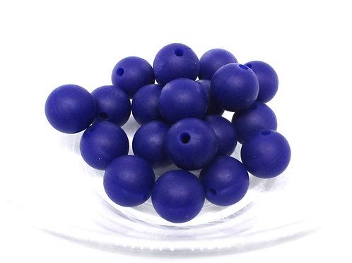 10 Perles Silicone 12mm Marine